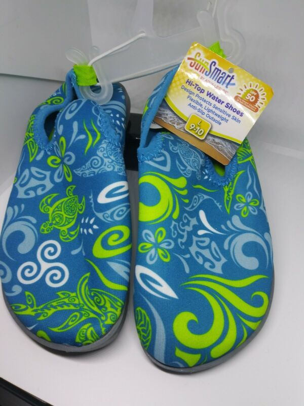 Sun Smart Hi-top Water Shoes kids size L 9-10 🛑NEW🛑