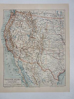 Die USA auf 2 Karten -  Von 1895    (J-BE2) ()
