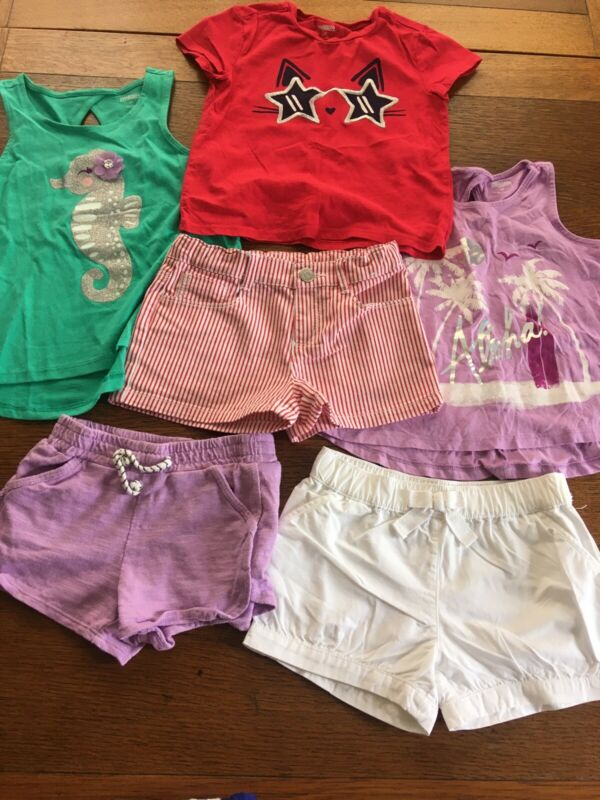 Summer Lot Girls Size 4T Outfits Gymboree Shorts And Tops