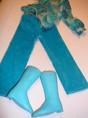 Crissy Outfit Pants Blouse Boots Blue 1971 Blue