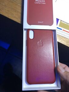 Apple iPhone XS Leather Case Like New
