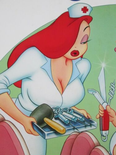 TUMMY TROUBLE Roger Rabbit Original THEATER-USED Movie Poster 27x41 #