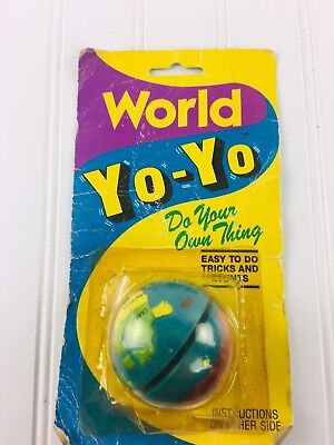 Vintage Round World Yoyo Yo-Yo - RARE
