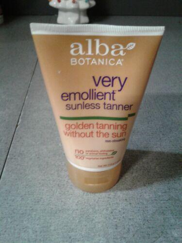 Alba Botanica Very Emollient Sunless Tanner, 4 oz bottle Tan