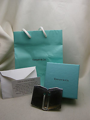 TIFFANY & CO OPEN BOOK BOOKMARK CLIP STERLING SILVER 925 GIFT BOX BAG