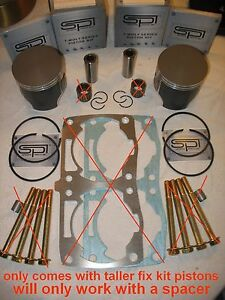 2-FIX-KIT-PISTONS-2008-2015-POLARIS-DRAGON-RMK-PRO-SWITCHBACK-ASSAULT-08-09-2010