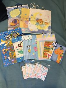 Baby gift bags and cards and invitations