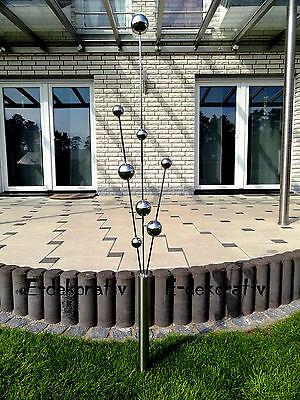 Gartenstecker Edelstahl deko Garten deko Skulptur Teichdekoration NEU 160 cm !!!