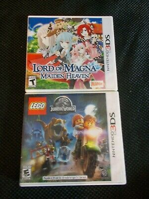 Lord of Magna Maiden Heaven Nintendo 3DS & Jurassic world lego video games