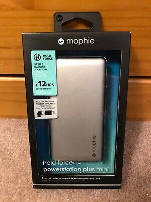 mophie powerstation Plus Mini External Hold Force Battery Apple iPhone...