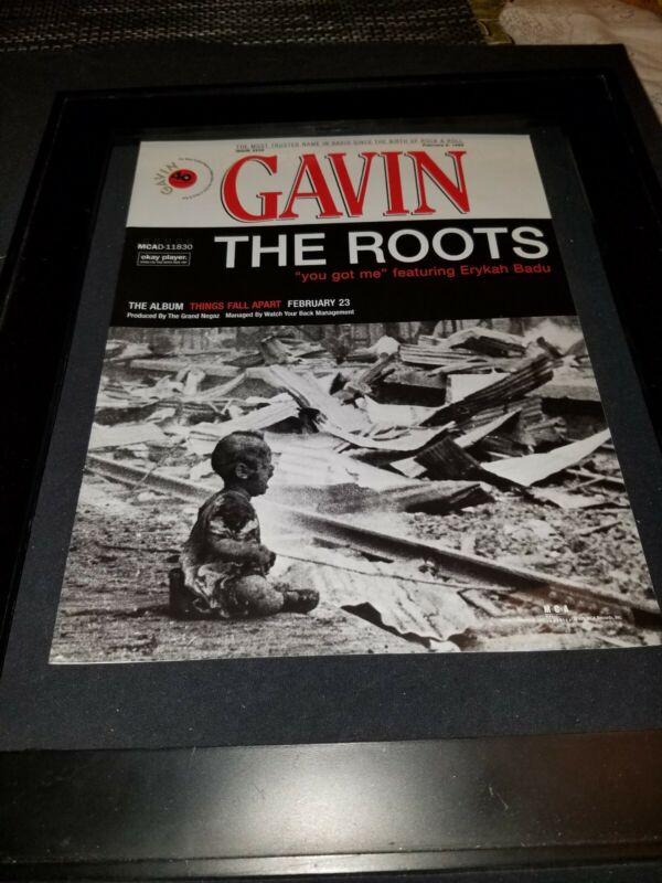 The Roots You Got Me Rare Original Radio Promo Poster Ad Framed!