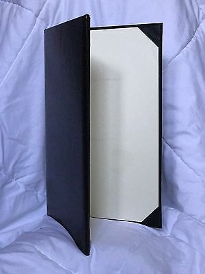 Used Black Leather Menu Cover