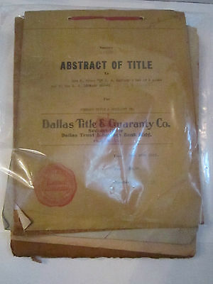 Vintage Collection Of 5 Abstract Of Titles   1917 1927   Tub Ccc