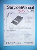 Servicio Manual De Instrucciones Para Panasonic Rq-2106, Original - panasonic - ebay.es