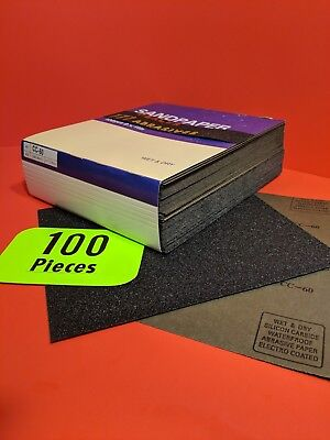 100-wet-dry Sanding Sheets  60 Grit Silicon-carbide-9x11  Waterproof Paper