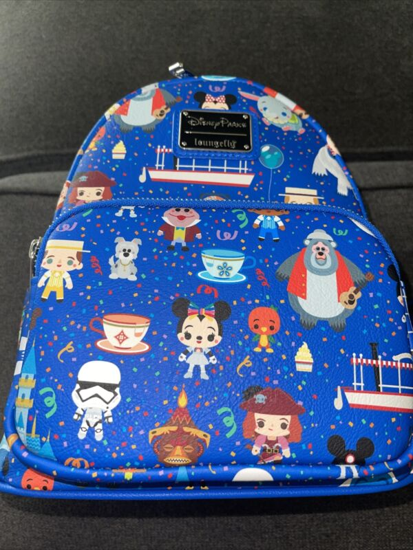 2021 Disney Parks Loungefly Mini Backpack Park Icons Attractions EXACT PRINT #73