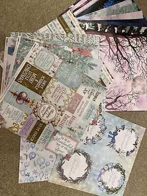 Christmas Scrapbook 12x12 Papers. 28 Sheets 6 Kaisercraft And 20 Fairy Papers