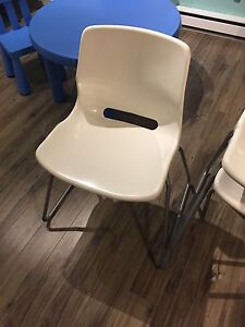 Sturdy Stackable Chairs x 3