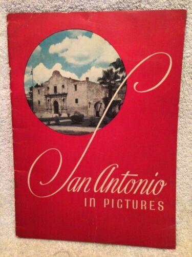 Vtg. Book San Antonio In Pictures 1940s Great Photos 30 Pgs. TX Travel Souvenir