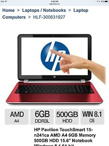 Like new amazing touchscreen red laptop!!
