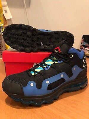 Nike Gore Tex (New Nike Air Max 360 Minot Terra Humara Hiking Gore-Tex Trail Black Blue Sz 9.5)