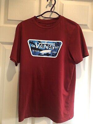 Boys Junior Vans Tshirt Size Medium Age 10-12