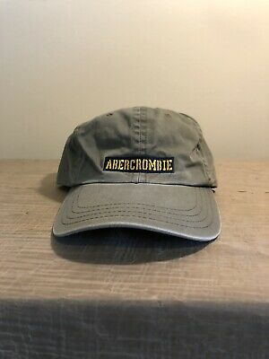 Vintage ABERCROMBIE & FITCH Leather Strap Hat Ball Cap Green