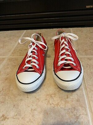 EXCELLENT CONDITION!!  Converse Red All Star Unisex 7.5M/9.5W