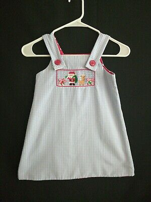 Zuccini Girls Reversible Embroidered Dress Size 4 Christmas and Valentine's Z5