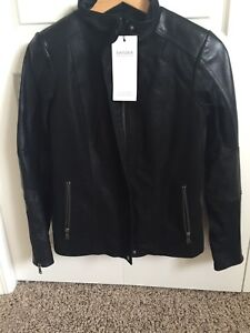 Danier Small black leather and suede jacket