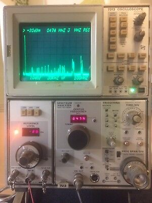 Tektronix Spectrum Analyzer 1khz - 1.8ghz Module - With 7313 Oscilloscope