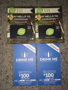 *BRAND NEW* Hello Fresh and Naked Wines Gift Vouchers Wallsend Newcastle Area Preview