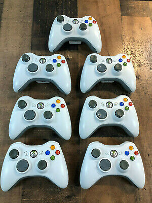 Genuine Microsoft Xbox 360 Wireless Controller TESTED WHITE