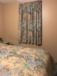 Queen size bed spread & drapes