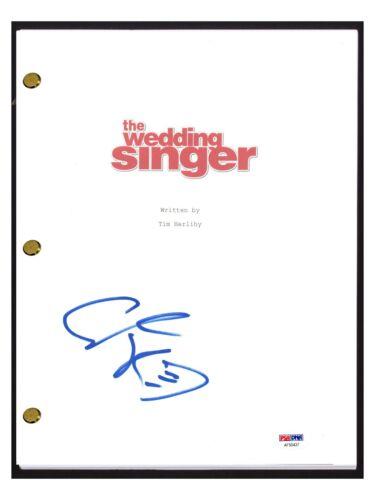 Adam Sandler Signed Autographed THE WEDDING SINGER Movie Script PSA/DNA COA