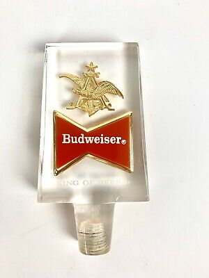 Vintage Budweiser Beer Tap Acrylic with Golden Eagle