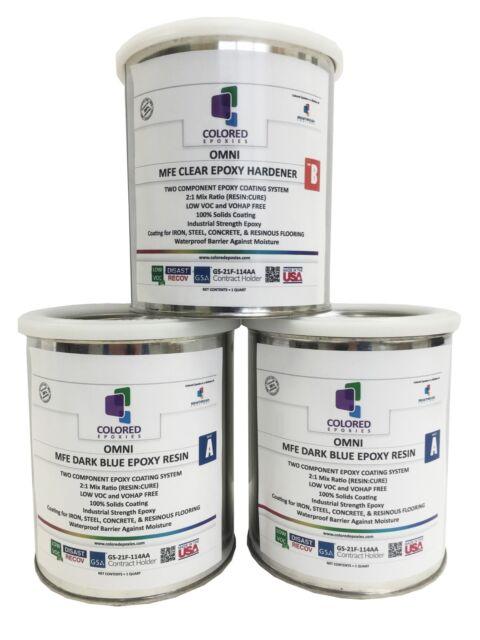 Coloredepoxies dark blue epoxy paint 2 1 part for garage for 1 part epoxy floor paint