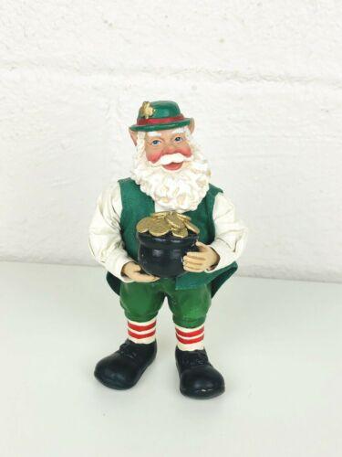 "Clothtique by Possible Dreams 6"" Irish Santa Leprechaun with a Pot of Gold"
