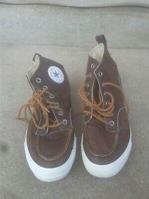 Converse Chuck Taylor All Star  High Tops Brown Leather 125651c  M-9.5 & W-11.5 Chuck Taylor Leather High Tops
