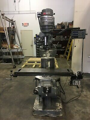 Bridgeport Milling Machine 3 Ph 1 Hp. Acu Rite Dro. Power Table Feed.