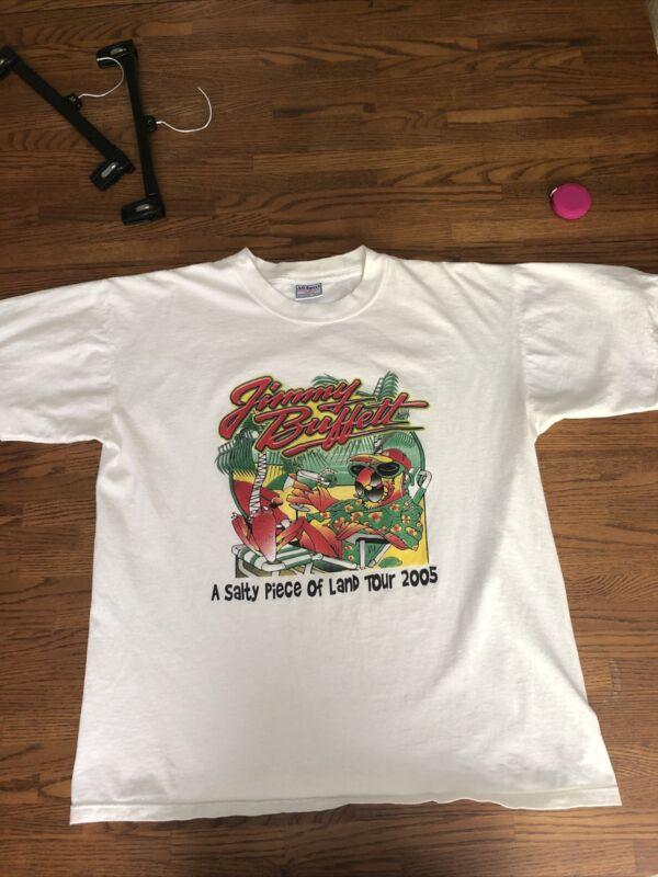 """JIMMY BUFFET """"A Salty Piece Of Land"""" 2005 Tour T-Shirt, Size XL, 100% Cotton"""