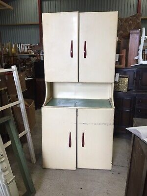RARE METAL Vintage Retro Kitchen Larder Cupboard Unit For Restoration  21/10/K