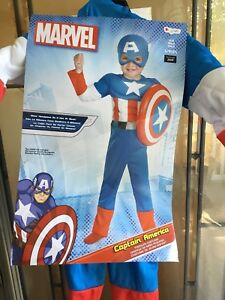 Captain America Halloween costume size 2 t (todder)
