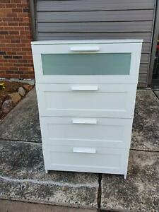 White drawers for sale.  Free deliver