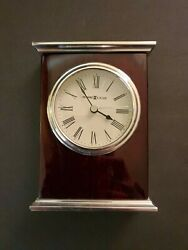 New Howard Miller Kentwood Table Clock  Time Piece  645481