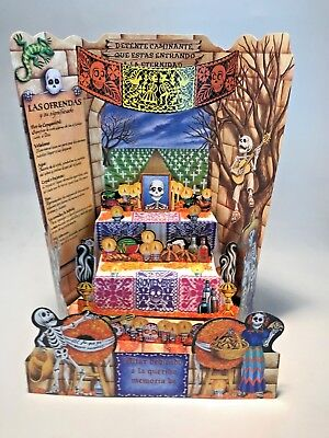 15 Inch Altar Day Of The Dead Dia De Los Muertos Holds 3 Pictures!