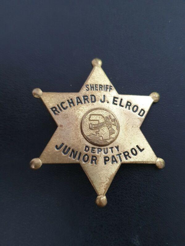 Obsolete sheriff deputy junior patrol badge cook county Illinois