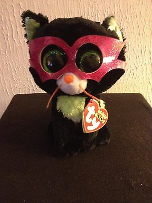 "Ty Beanie Boo Boos Jinxy the Halloween Cat 6"" Red Tag with Glitter Eyes MWMT"