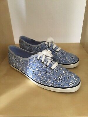 KEDS Light Blue Ditsy Floral Lace Up Classic Pumps Size 4.5 New In Box