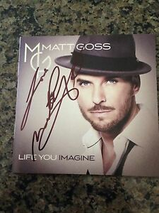 AUTOGRAPHED MATT GOSS Life You Imagine 2014 CD SIGNED